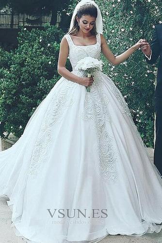 Vestido de novia Recatada largo Cremallera Iglesia primavera Formal - Página 1