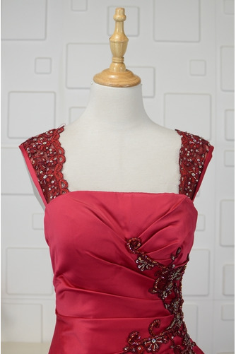 Vestido de quinceañeras Cola Barriba Corte-A Formal Plisado Triángulo Invertido - Página 4