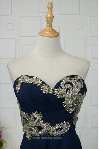 Vestido de noche Elegante Otoño Corpiño Acentuado con Perla Hasta el suelo - Página 3