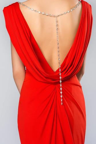 Vestido de noche Espalda Descubierta Blusa plisada Corte-A Elegante - Página 6