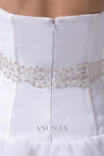Vestido de novia Playa Falta Cintura Baja Asimètrico Espalda Descubierta - Página 5
