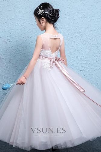 Vestido niña ceremonia Fajas Corte-A Falta Arco Acentuado primavera Natural - Página 2