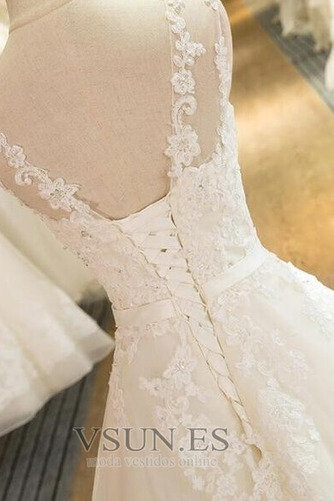 Vestido de novia Falta Iglesia Hasta el suelo Encaje Corte princesa - Página 4