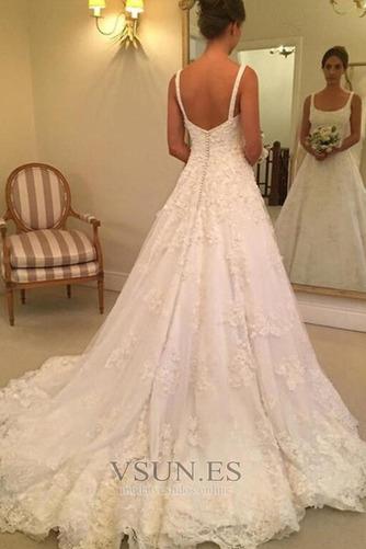 Vestido de novia primavera Espalda Descubierta Corte-A Triángulo Invertido - Página 1