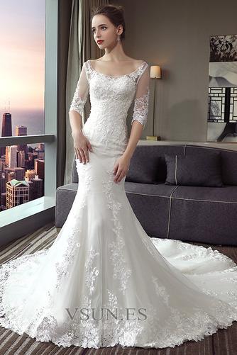 Vestido de novia largo Espalda Descubierta Formal Playa Encaje Corte Sirena - Página 1