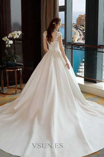 Vestido de novia Capa de encaje Encaje Apliques Escote con cuello Alto - Página 6