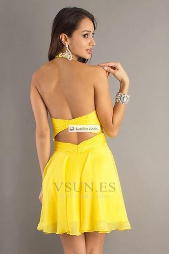 Vestido de graduacion Abalorio Natural Verano Moderno Corto Espalda Descubierta - Página 2
