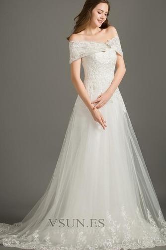 Vestido de novia Encaje Elegante Corte-A Pera Cola Corte Cremallera - Página 4