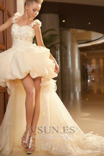 Vestido de novia Abalorio Sin mangas Tiras anchas Alto Bajo Cremallera - Página 1