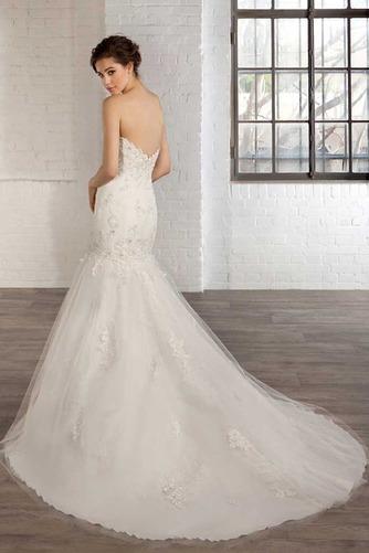 Vestido de novia tul Natural Apliques Espalda Descubierta Escote Corazón - Página 2