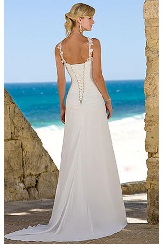 Vestido de novia Corte Sirena Elegante Cordón Sin mangas Escote de Tirantes Espaguetis - Página 2