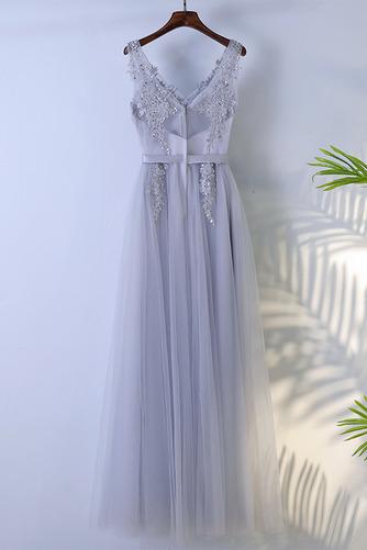 Vestido de dama de honor Hasta el suelo Corte-A Sin mangas Verano Capa Multi - Página 2
