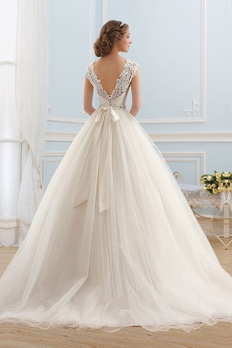 Vestido de novia Formal Cremallera Cristal Cinturón de cuentas Encaje - Página 3