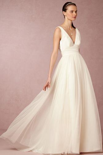Vestido de novia Informal Apliques Sin mangas Espalda Descubierta Natural - Página 3