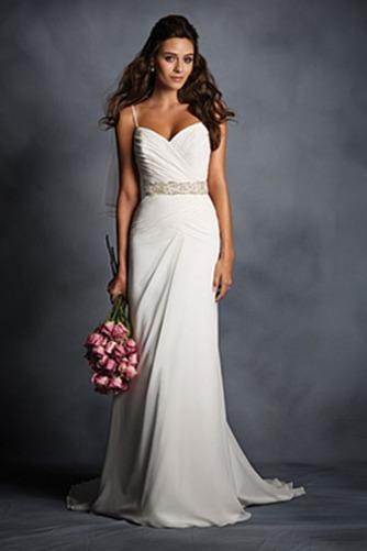 Vestido de novia Sin mangas Espalda medio descubierto Cinturón de cuentas - Página 1