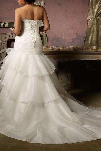 Vestido de novia Corte Sirena Cintura Baja Sala Cola Capilla Escote Corazón - Página 3