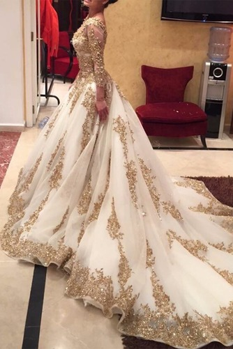 Vestido de novia Natural Espalda medio descubierto largo Espectaculares - Página 2