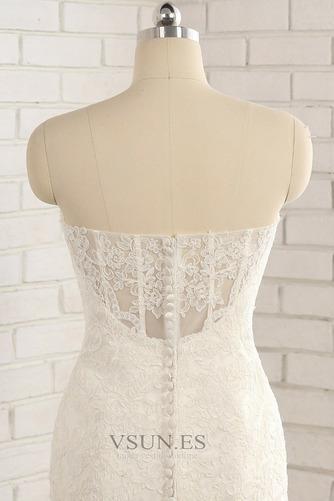 Vestido de novia Natural Apliques Capa de encaje Invierno tul Moderno - Página 6