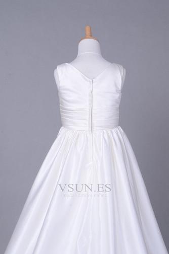 Vestido niña ceremonia Cola Capilla Blanco Invierno Sala Cremallera Blusa plisada - Página 6