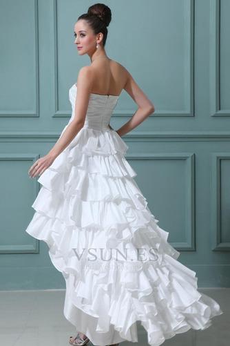 Vestido de novia Alto Bajo Cascada de volantes Fuera de casa Moderno - Página 4