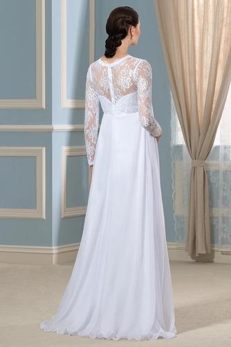 Vestido de novia Imperio Cintura Hasta el suelo Plisado Escote en V - Página 3