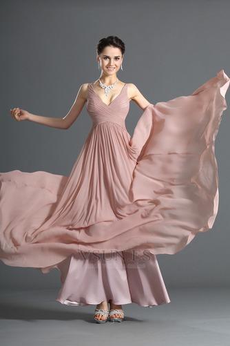Vestido de noche Blusa plisada Plisado Cremallera Corte-A Sin mangas - Página 4