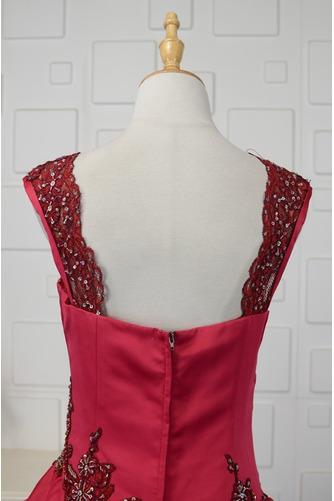 Vestido de quinceañeras Cola Barriba Corte-A Formal Plisado Triángulo Invertido - Página 5