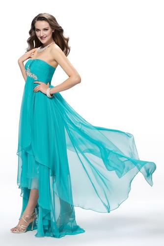Vestido de fiesta Elegante Gasa Espalda Descubierta Asimètrico Asimétrico Dobladillo - Página 2