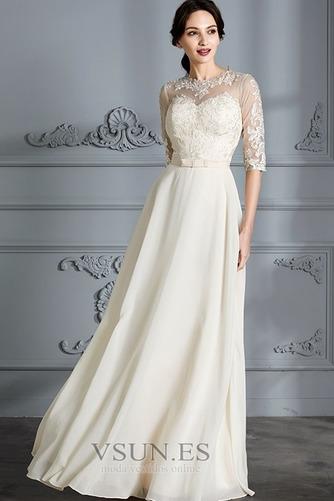 Vestido de novia Corte-A Apliques Capa de encaje Natural Falta Fuera de casa - Página 3