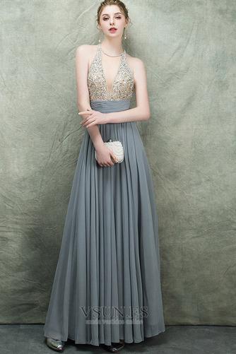 Vestido de fiesta Espectaculares Corte-A Natural Corpiño Acentuado con Perla - Página 2