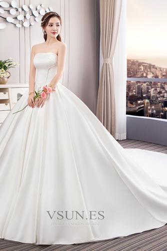Vestido de novia Sin tirantes Espalda Descubierta Reloj de Arena Cola Catedral - Página 1