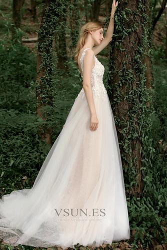 Vestido de novia Corte-A Sin mangas Natural Verano Flores Espalda Descubierta - Página 3