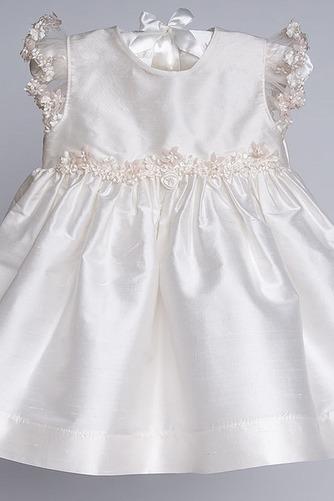 Vestido de Bautizo Alto cubierto Hasta el Tobillo Arco Acentuado Lazos - Página 4