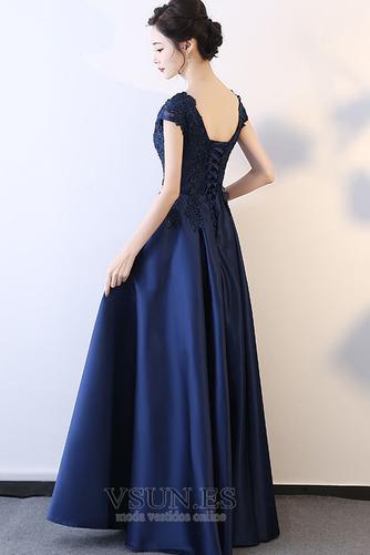 Vestido de fiesta Falta Corte-A Apliques Escote en V Natural Espalda Descubierta - Página 2