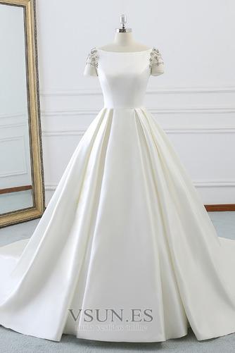 Vestido de novia Iglesia Natural primavera Falta Espalda Descubierta - Página 1