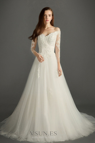 Vestido de novia Verano Cremallera Encaje Natural Sala Mangas Illusion - Página 1