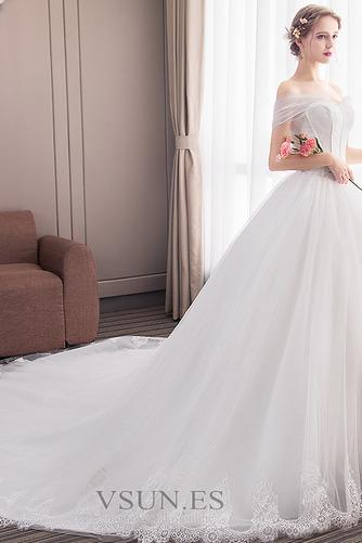 Vestido de novia Formal Manga tapada Capa de encaje Corte-A Natural - Página 3