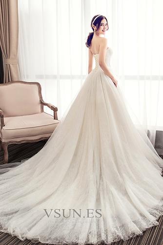 Vestido de novia Elegante Sin mangas Cola Corte Satén Corte-A Apliques - Página 2