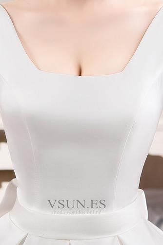 Vestido de novia Cola Real Drapeado Satén Iglesia Cordón Triángulo Invertido - Página 5