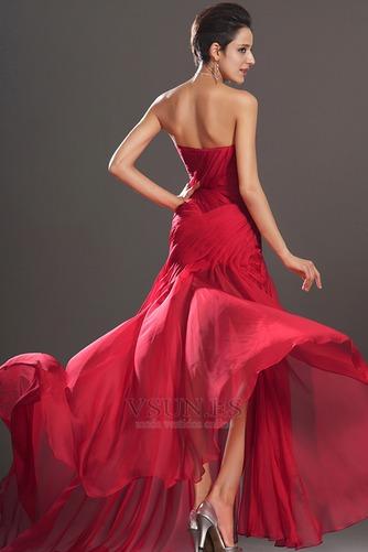 Vestido de fiesta Embarazadas Natural rubí Drapeado Lateal Sin mangas - Página 6