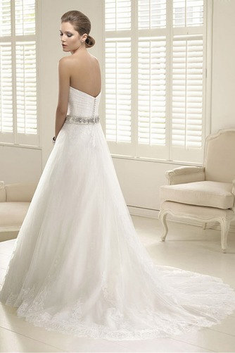 Vestido de novia Corte-A Escote Corazón Fuera de casa Verano Natural - Página 2