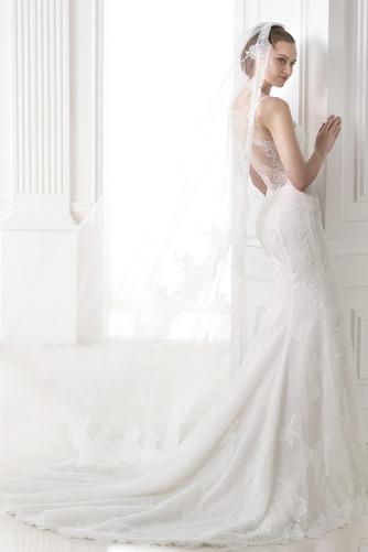 Vestido de novia Escote en V Fuera de casa Otoño Natural Corte Sirena - Página 2