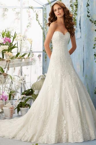 Vestido de novia Elegante primavera Corte-A Sala Escote Corazón Apliques - Página 1