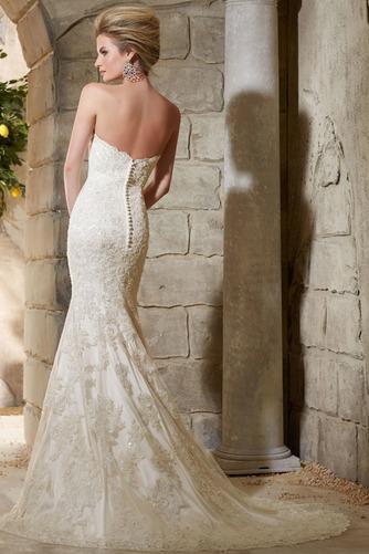 Vestido de novia Moderno Sala Natural Cola Capilla Espalda Descubierta - Página 2