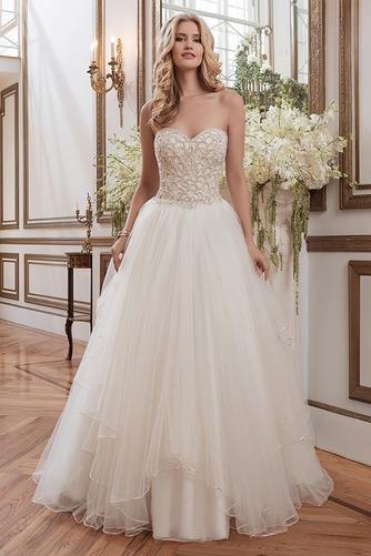 Vestido de novia Colores Fuera de casa Abalorio Espalda Descubierta - Página 1
