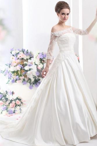 Vestido de novia Clasicos Cordón Mangas Illusion Sala Escote con Hombros caídos - Página 1