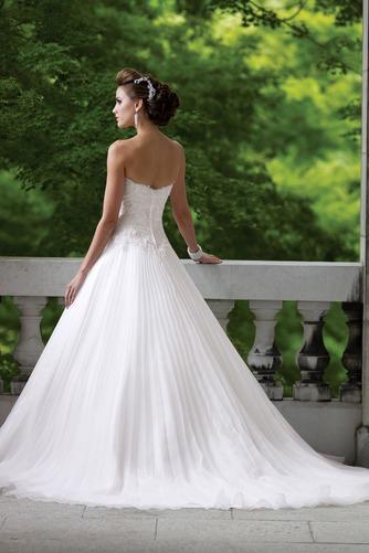 Vestido de novia largo Corte-A Iglesia Formal Sin mangas Organza - Página 2