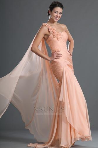 Vestido de noche 2015 Verano Gasa Corte Sirena Cremallera Rosetón Acentuado - Página 3