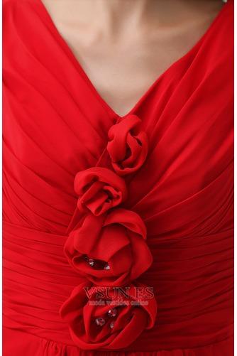 Vestido de fiesta Falta Flores Informal Verano Gasa Natural - Página 5