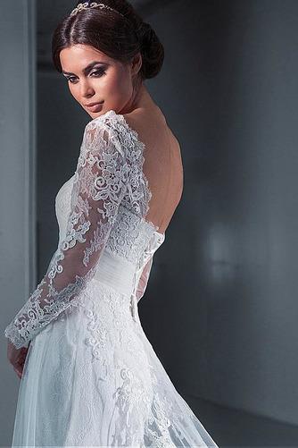 Vestido de novia Encaje Natural Satén Playa Escote Cuadrado largo - Página 3
